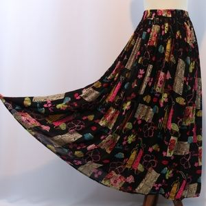 White Stag Printed Crinkle Maxi Skirt
